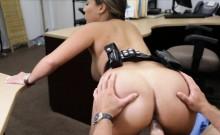 Huge jugs police officer pawnshop fuck