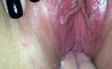 Wife Gets Fucked And Creampied Close Up