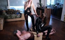 Ball Busting That Slave Cock