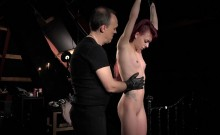 Girl is sexual object for longing Master