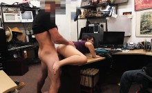 Naughty bitches banged by pawn keeper in the office