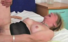 Blonde Granny Gets Her Crotch Penetrated
