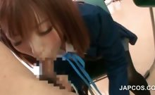 Asian school sex with teen doll blowing her teachers dick