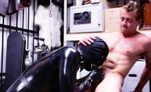 Straight boys vid treat gay Dungeon sir with a gimp