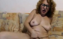 Mature Wildly Convulses from Omibod on Cam H