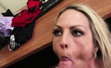 Office Blonde Drools All Over This Cock