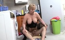 The technician is fucked by granny
