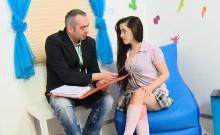 Elegant bookworm was seduced and poked by her elder teacher