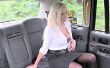 Blonde cutie Barbie Sins blows a huge cock in the taxi