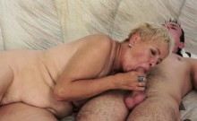 Old Womans Mouth Spunked