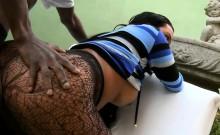 Hot Tgirl In Shear Pantyhose Anal Rammed