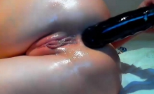 Anal Fingering and Dildoing in close up