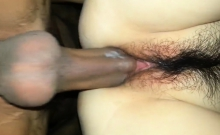 Hard Cock Penetrating A Hairy Pussy