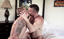 Tattoo Daddy Anal Sex With Facial Cum