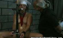 Angelina loves to play BDSM games