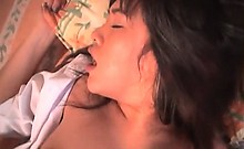 Jap sex starved girl in school taking shaft in close-up