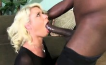 Blonde goes insane over huge black cock