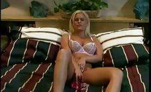 Masturbating Big Tit Blonde Fucked