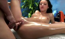 Morgan seduced and fucked hard by her massage therapist.