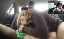Hot and busty mature latina whore fucked in a fake taxi and