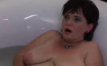 Granny Masturbating In The Bath Tub