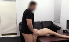 Aspen sucks her way into porn at Backroom Casting Couch
