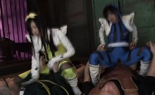 Cute teen Japanese power rangers gets fucked by the villains