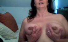 Super-hot horny fucks squirts and her dildo