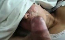 Fucking my wife from behind she handles her eyes after I ta