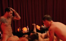 Swingers swap partners and pounding in Playboy mansion