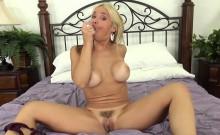 Sarah Vandella Unsnaps Her Bra and Masturbates with a Dildo
