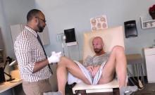 Black doctor spunks hunk