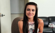 Talented honey bounces crazily on her interviewer's cock