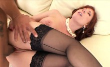 Hot mature starlet has her pussy plugged