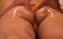 Gorgeous Japanese babe with a heavenly ass gets pleased by
