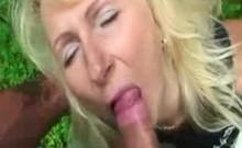 Blonde Saida Sinner sitting on a big cock