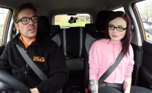 First driving class ens with doggy style