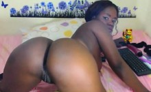 Superb Black Goddess Jenn Masturbate And Cum On Webcam