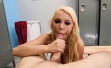Boss Kenzie Taylor sucking Jmacs monster cock