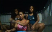 Outdoor Group Sex with Hot Ebony Bitches