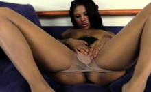 Big Tit Ebony Chick Playing With Pussy