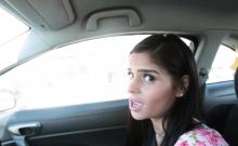 Katya Rodriguez gave stepbro a blowjob in a car