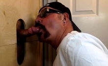 Latino Cums Fast At The Gloryhole