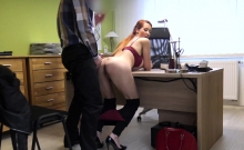 LOAN4K. Hot redhead slut fucks her credit agent