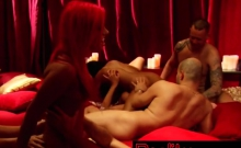 Couples Strip Clothes Off In Redroom