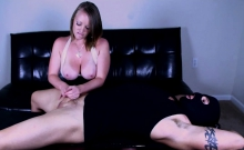 Busty Mistress Gives An Amazing Hj