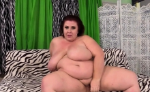 Mature BBW shows her sexy big tits and plump pussy Then