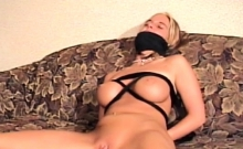 Naughty hottie gets mistreated and titillated hardcore style
