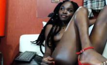 Ebony teen masturbation
