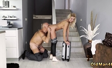 Bisexual old couple and young man first time Finally at home